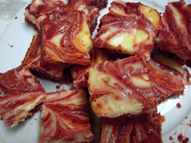 Red Velvet Cheesecake Swirl Brownies   Food - Sweet   Pinterest