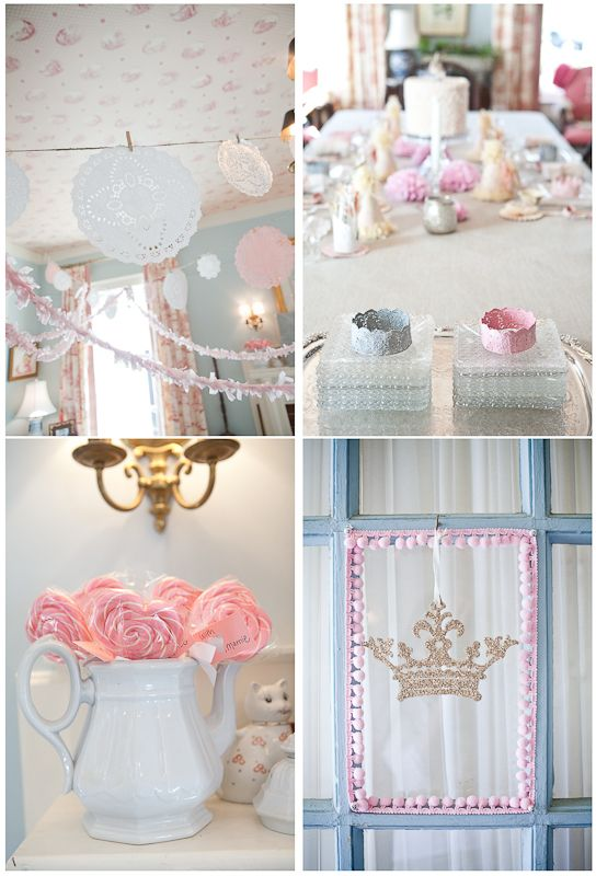 Vintage Princess Party - doilies haning