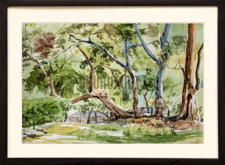 Painting of a park in Banaras Hindu University