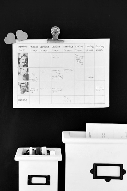 DIY weekplanner with pictures  www.frufly.no