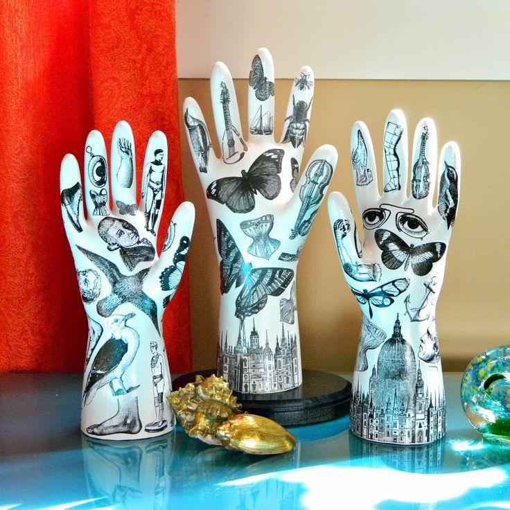 Mark Montano: Tattooed Plaster Hands (Fornasetti Inspired)