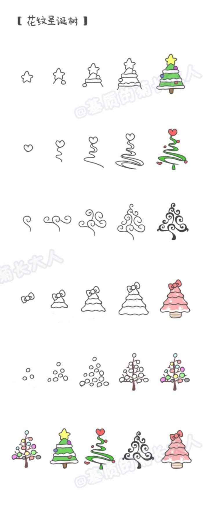 如何画圣诞树,来自@基质的菊长大人