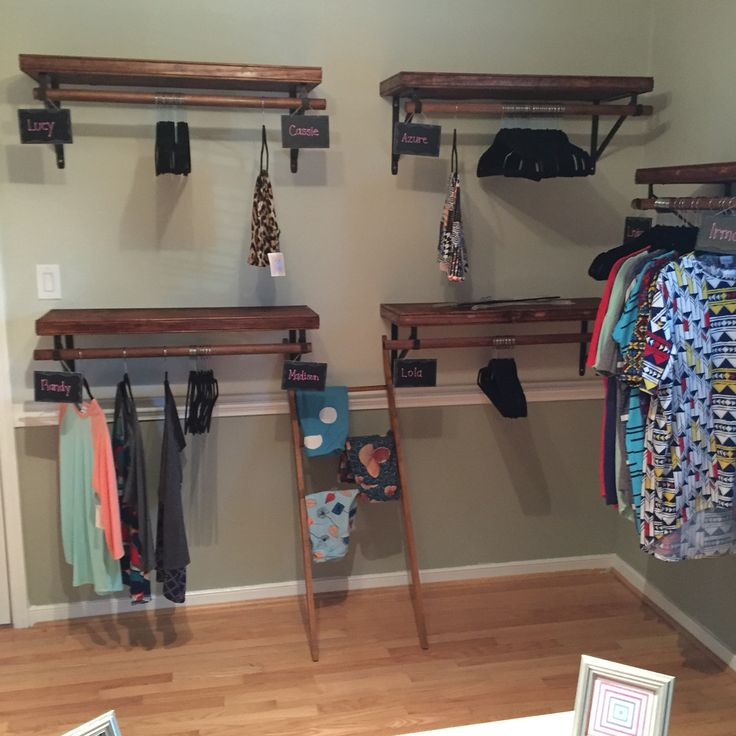 Lularoe Room Ideas With Pipe Shelving