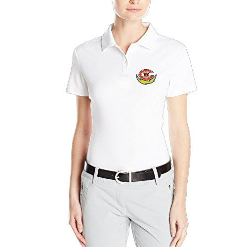 AUGU Women Chicago Cincinnati San Diego Sports Polo Shirt White XXL *** Click image to review more details.