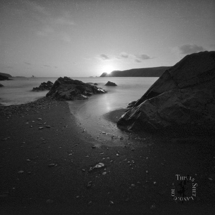 Beach at Hillswick pinhole image - Pinhole Camera Photos by Ryan Sandison