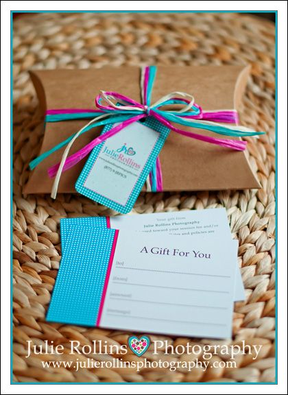 Gift certificate packaging box