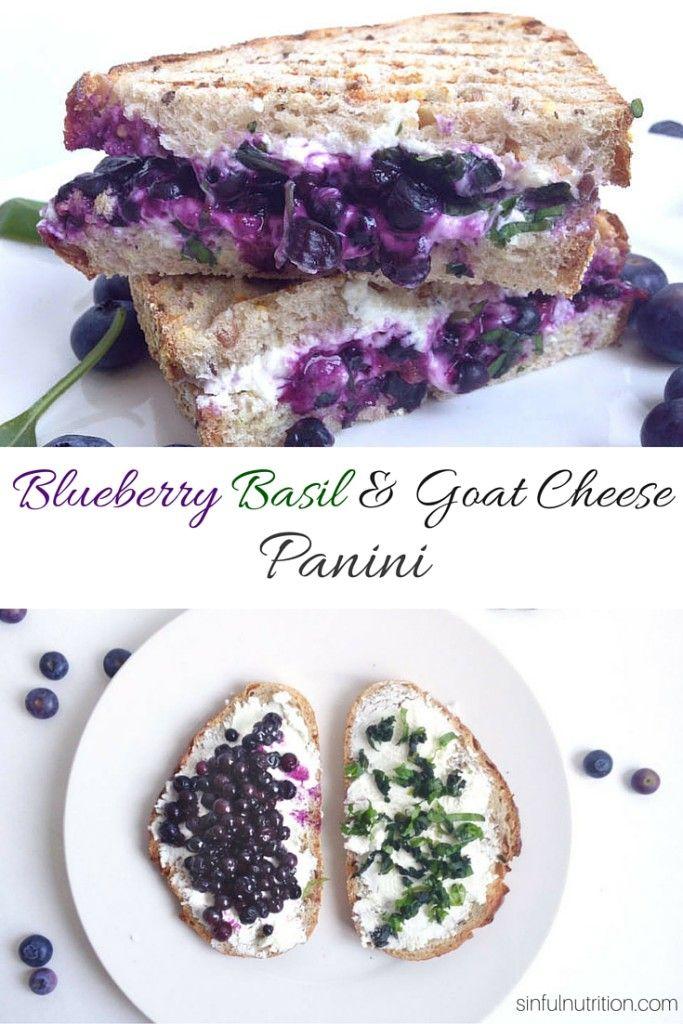 Blueberry Basil & Goat Cheese Panini Sandwich - Sinful Nutrition