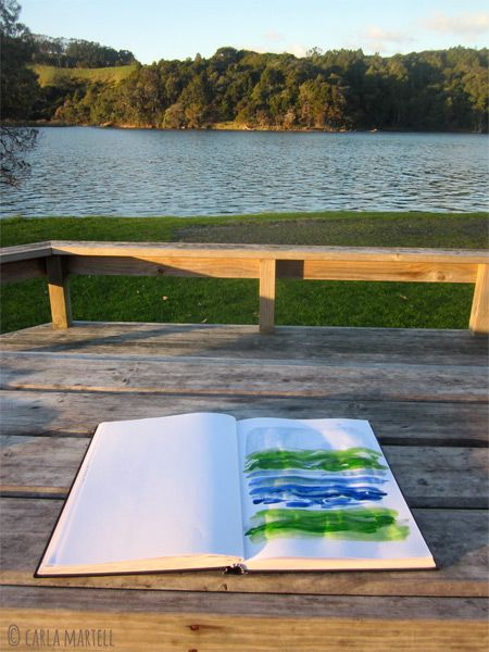 Sketchbook by the Puhoi river, Wenderholm, New Zealand | Carla Martell