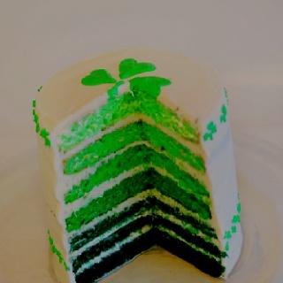 Green cake...