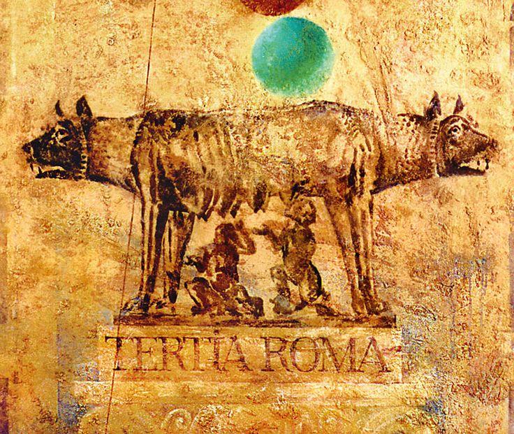 """THE THIRD ROME"", canvas, relief pastes, acrylic, golden foil, 170x10 cm (fragment). ""ТРЕТИЙ РИМ"", холст, рельефные пасты, акрил, золотая фольга, 170x120 см.(фрагмент). more - http://lauren.ru/ru/pics/gallery/goroda/id_86.html?task=view"
