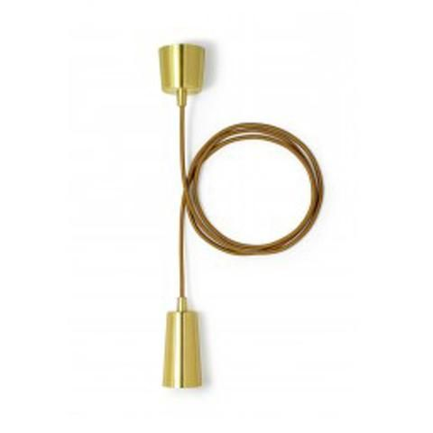 Drop Cap pendant - brass