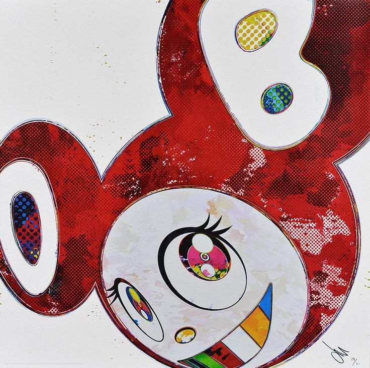 Takashi Murakami, And Then x6 (Vermilion: The superflat method)