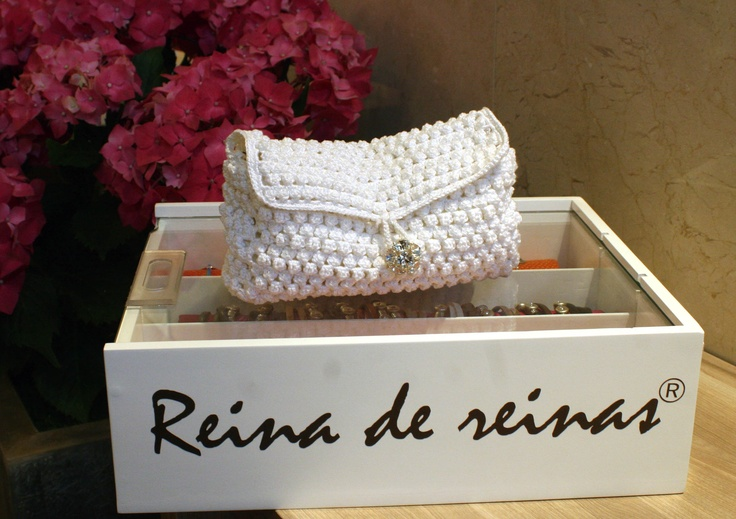 Bolsos crochet blanco, ideal para fiestas