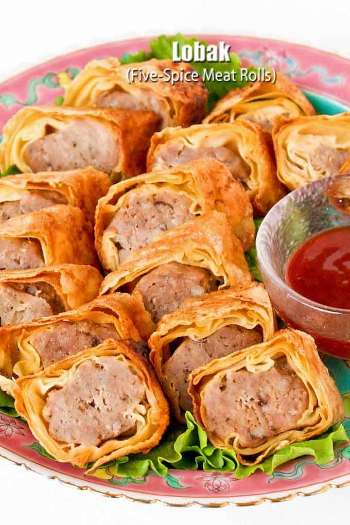 Lobak (Five-Spice Meat Rolls) are delicious pork rolls wrapped in beancurd sheets. These are steamed and pan fried. Just as tasty as the deep fried version. | RotiNRice.com