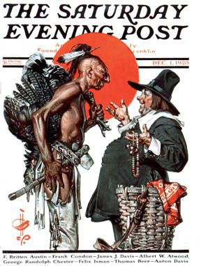"Norman Rockwell's Thanksgiving..Cover of the ""Saturday Evening Post"" Magazine. Dec.1,1923."