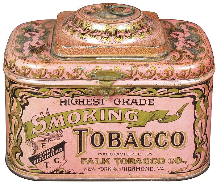 Dome Top Smoking Tobacco Tin