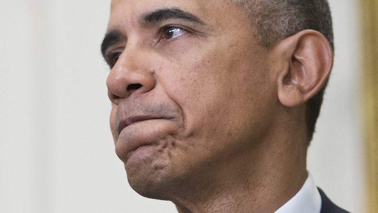 Amerikanske værdier er på spil, siger Obama i den første udtalelse, siden han forlod Det Hvide Hus.