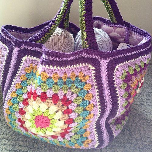 big granny square bag