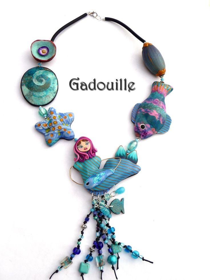 Collier Ginette à la mer : Collier par gadouille