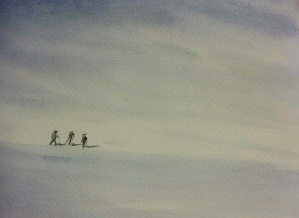 #watercolours #valais #winter #switzerland #mountains www.sandragianesini.com