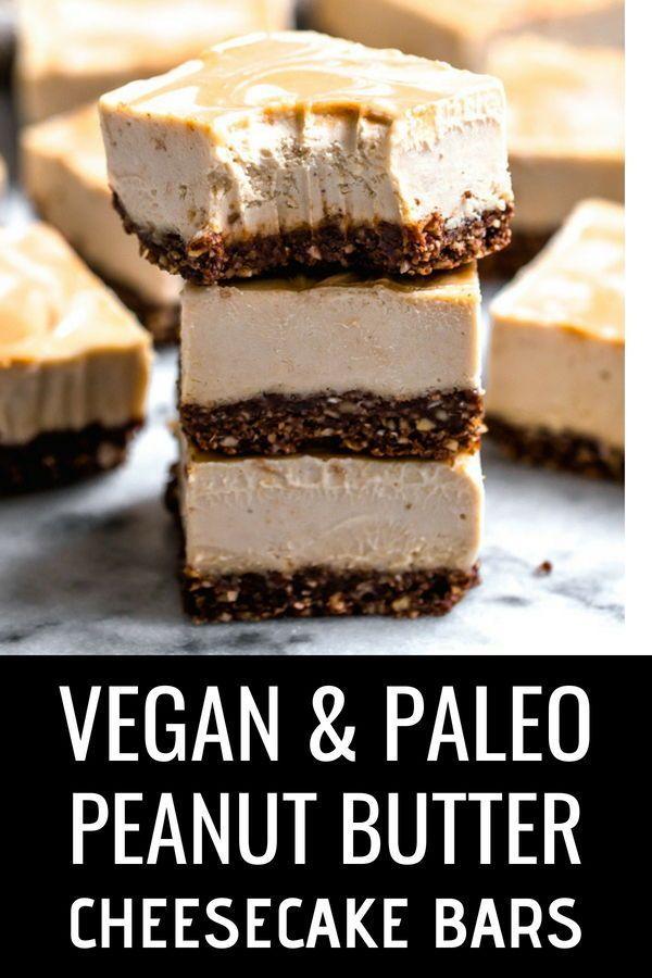 Vegan Creamy Peanut Butter Fluff Bars Vegan Candies Delicious