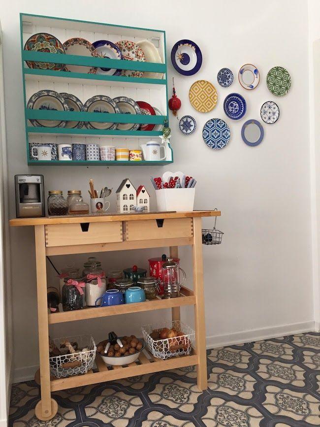 House Tour - Kitchen Shelves and Plate Racks / Mutfak Turu - Mutfak Rafı - Duvar Dekorasyonu - Wall Decoration - Mutfak Dekorasyonu