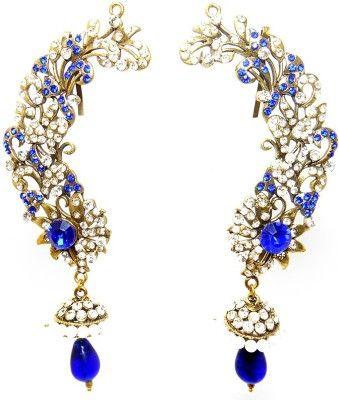 MKJewellers Peacock Ear Cuffs 6945 Brass Cuff Earring