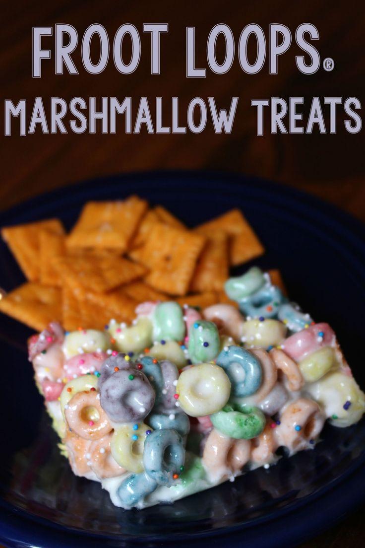 Froot Loops® Marshmallow Treats #Back2SchoolReady #AD