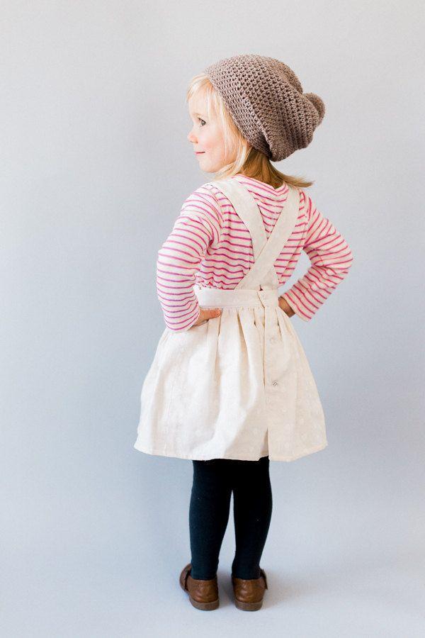 Peuter schort jurk  peuter kleding  Vintage door blytheandreese
