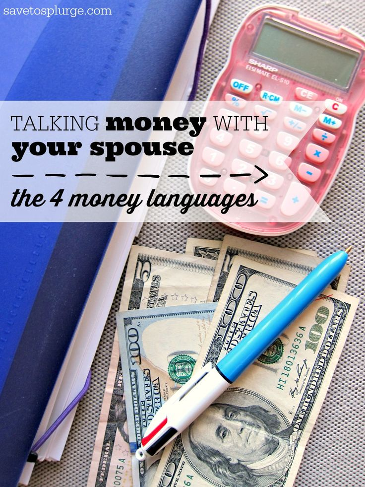 "Do you have trouble talking to your spouse about money? I've realized that we all ""speak"" a different money language. Let's try to understand our spouse's!"