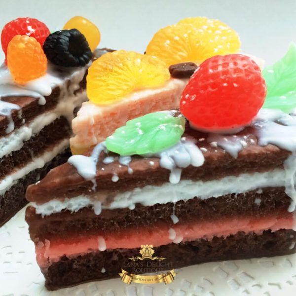 Chocolate cake soap 4