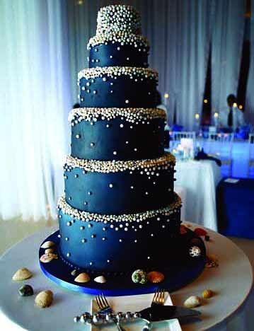 Navy Blue Cake Decorations