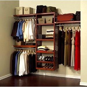 John Louis Home Deluxe 16-Inch Deep Closet Shelving System