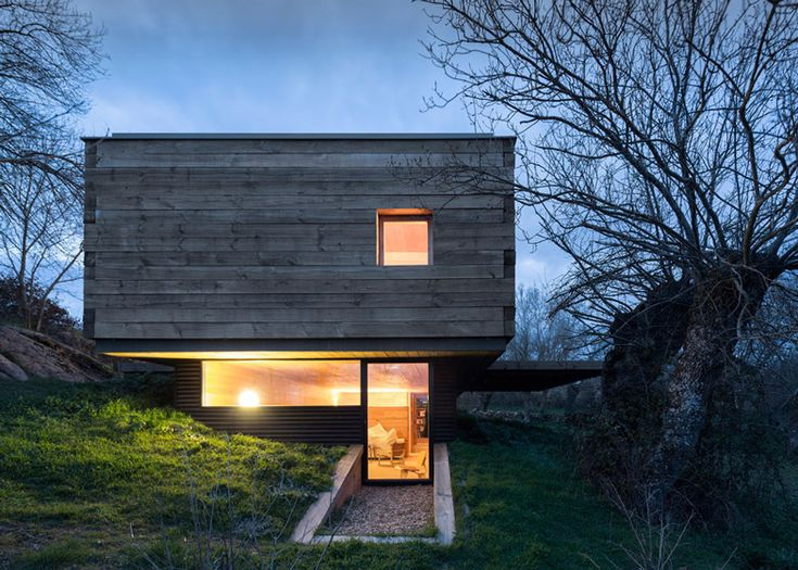 This rural retreat has been built in an idyllic meadow