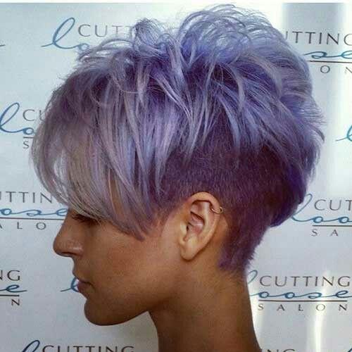 Purple with grey