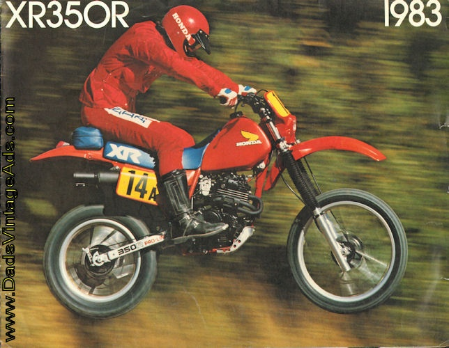 1983 Honda XR350R Motorcycle Brochure