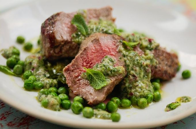 Seared Lamb with Salsa Verde