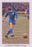 Henry Newton of Nottingham Forest in 1968.