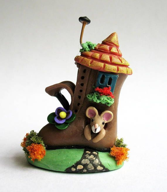 Miniature  Wee Fairy Sandcastle Mouse House by C. Rohal
