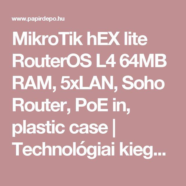 MikroTik hEX lite RouterOS L4 64MB RAM, 5xLAN, Soho Router, PoE in, plastic case | Technológiai kiegészítők | Hálózati eszközök | Routerek és adapterek | PapírDepo.hu online vásárlás