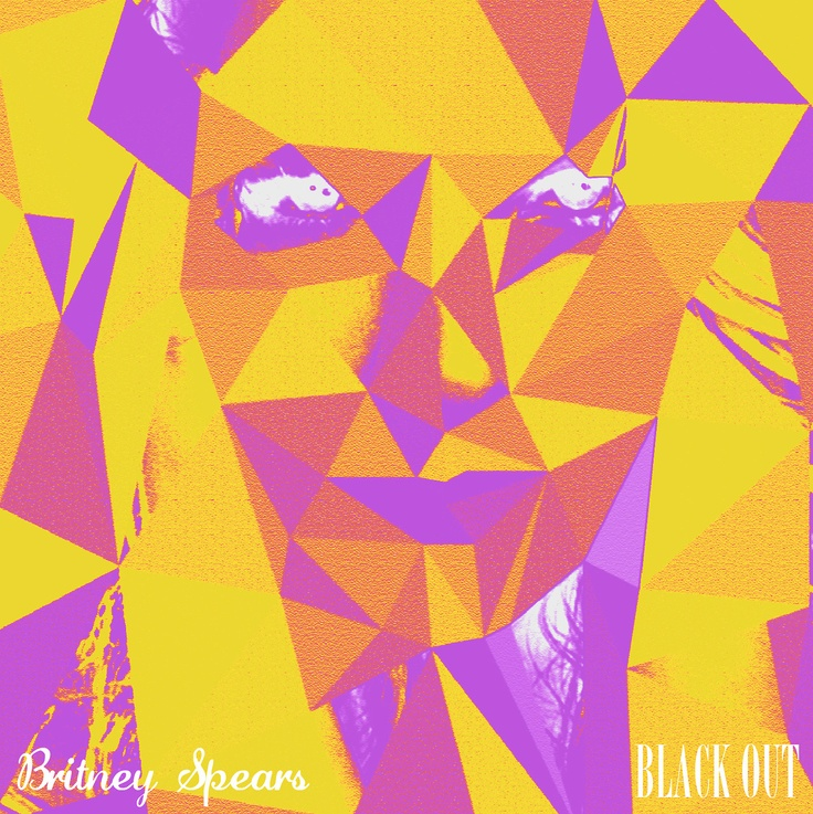 Black out britney spears cd cover cd cover design for Colors that pop out