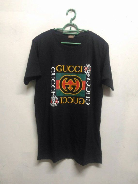 89cdde97 Gucci Shirt Gucci Logo Spellout Gucci Print Shirt Butleg Medium Size  Versace Bape Playboy Fendi. Find this Pin and more ...