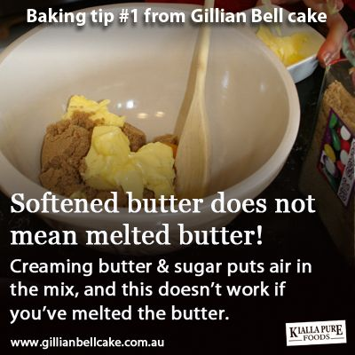 Baking tip: don't melt the butter