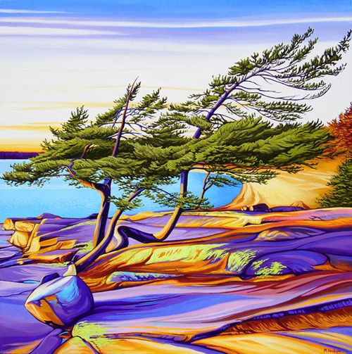 """""""Entangled Pines, Georgian Bay"""" by Margarethe Vanderpas"""
