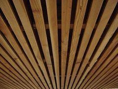 Wood Slat Solution for Basement Ceiling. Yup easiest and nicest solution to my basement ceiling.