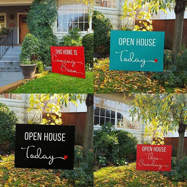NEW on the site NOW!! Turquoise, Red and Black versions of our cursive heart yard signs ❤♥ www.allthingsrealestatestore.com