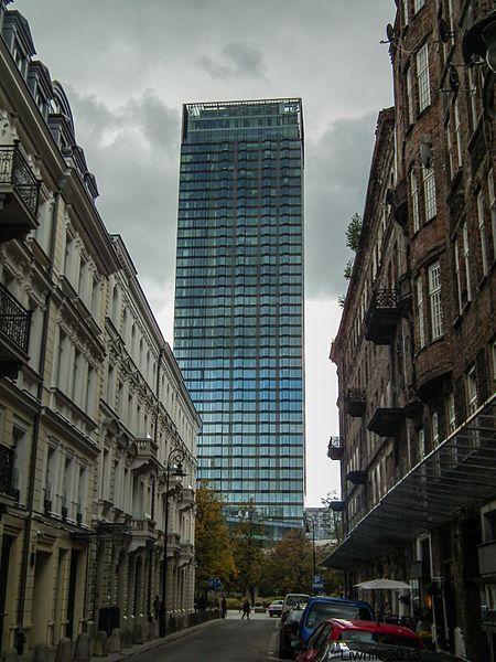 File:Cosmopolitan Twarda 2-4 from Próżna street, Warsaw.jpg