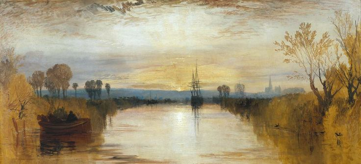 Artist  Joseph Mallord William Turner (1775‑1851)  Title  Chichester Canal  Date c.1828  MediumOil paint on canvas  Dimensionssupport: 654 x 1346 mm frame: 932 x 1630 x 155 mm  Collection  Tate