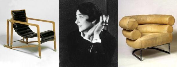 International Symposium: Examining Eileen Gray, Transat Chair, Portrait of Eileen Gray, Bibendum Armchair