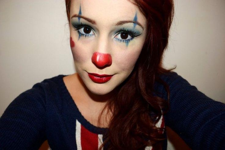 Einfaches Clown-Gesicht schminken